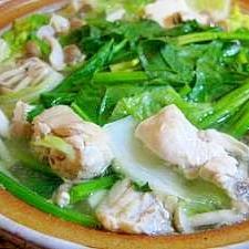 水炊きIN鶏ガラスープ