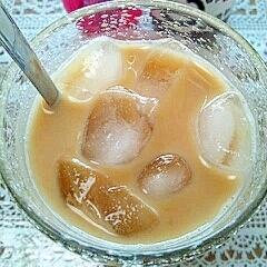 アイス☆黒酢&オリゴ入りきなこほうじ茶ミルク♪