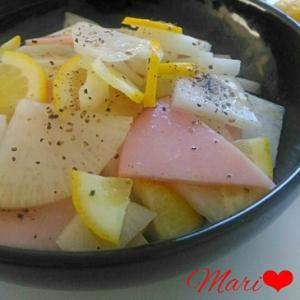 レモン風味♪大根とハムのサラダ