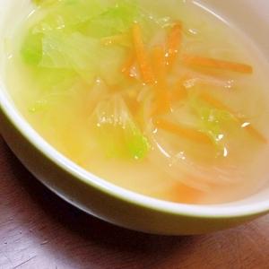 レタスとにんじんのスープ