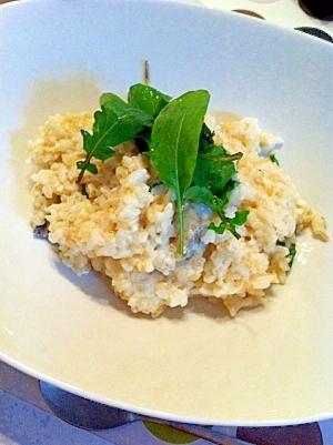 牡蠣のクリーム玄米リゾット