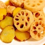 レンコンとサツマイモの煮物