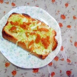味噌キャベトースト