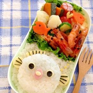 簡単キャラ弁☆ふぐのふくちゃん のお弁当♪