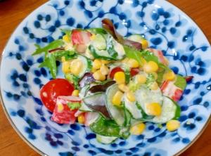 簡単!彩りサラダ