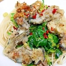 セロリ&牡蠣のパスタ