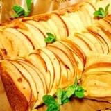 リンゴの☆薄っぺらケーキ