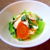小松菜とさつま揚げの煮浸し