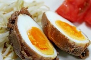 肉巻きスタミナ卵★漬け込んで翌日がまた美味!