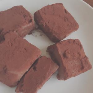 豆腐で簡単生チョコ