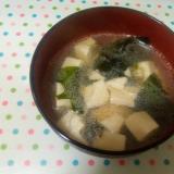 あっさりで美味しい☆わかめ豆腐の韓国風スープ