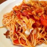 ローズマリーのトマトソースパスタ