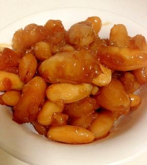 白インゲンの醤油豆
