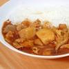 残った芋煮風の里芋の煮物で芋煮カレー
