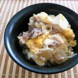 豚玉豆腐丼
