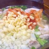 豚とキムチの塩ラーメン