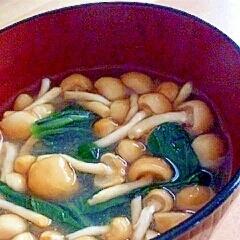 なめこと小松菜の味噌汁