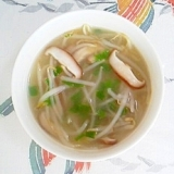 もやしと椎茸の冷製スープ