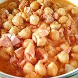 ヒヨコ豆のトマト煮込み