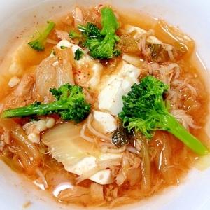 ピリ辛で温まろう◎豆腐のチゲ