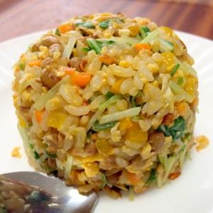納豆サラダチャーハン