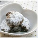 粉雪が積もったようなクッキーチョコポルボローネ♪