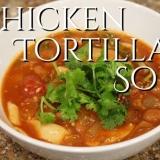 チキン・トルティーヤ・スープ メキシコ料理のスープ