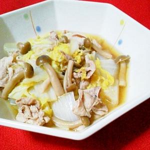 簡単でほっこり~♪豚肉・白菜・しめじの煮物