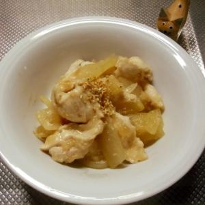鶏肉と冬瓜の甘辛味噌炒め