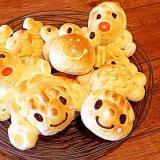 楽しく作る子どもパン 似顔絵パン