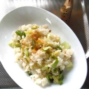 【うま塩】で簡単たっぷりキャベツのヘルシー炒飯♪