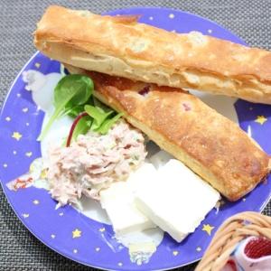 冷凍パン★グラノーラとツナマヨクリームチーズ