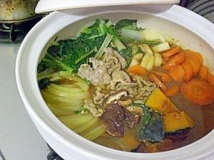 ● ごろごろ野菜の和風カレー鍋♪シメはうどんで ●