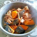 かぼちゃと豚肉としめじの煮物