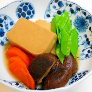 乾物は栄養の宝庫!椎茸と高野豆腐の炊き合わせ