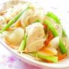 ❤蒸し鶏と新玉葱と人参ともやしニラの野菜炒め❤