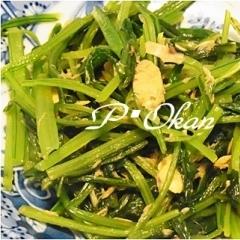 壬生菜のツナ缶炒め