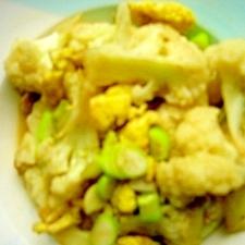 卵とカリフラワーの炒め