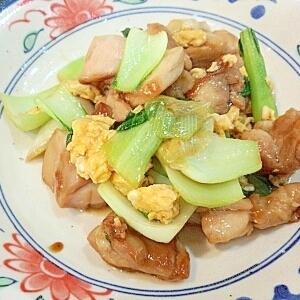鶏肉と青梗菜のオイスターソース炒め