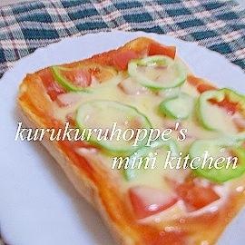 トマトとピーマンのベジタブルピザトースト☆