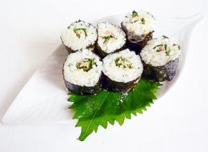 大葉とツナの細巻寿司