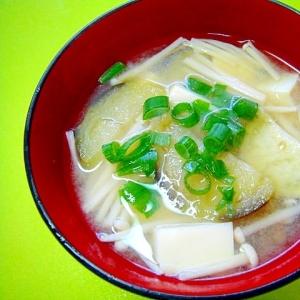 豆腐茄子えのきの味噌汁