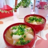 長芋と玉ねぎの味噌汁