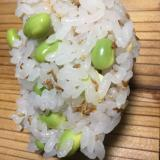 ミツカン簡単レモン酢で⭐️甘酢生姜と枝豆のお寿司