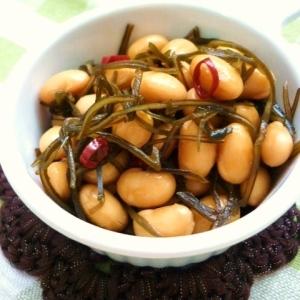 お弁当に☆大豆と刻み昆布の煮物
