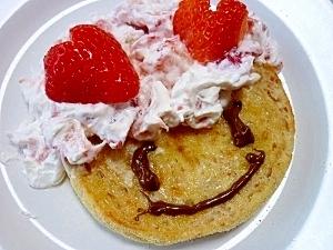 苺クリーム&イングリッシュマフィンなモモコドモダケ