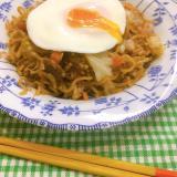 神戸発祥☆牛肉と舞茸のそば飯