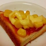 パンでおつまみ♪ケチャップコーンマヨネーズトースト