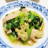 ヤマブシタケと小松菜のオイソ炒め