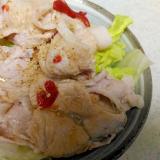 レタスと豚肉の梅サラダ